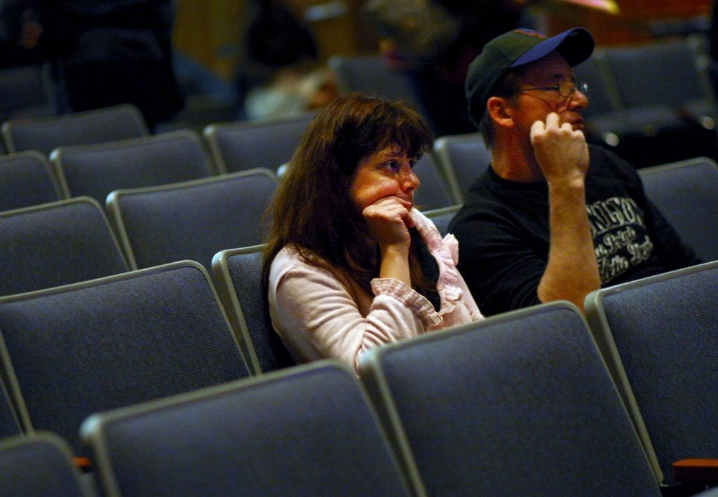 PERPLEXED PARENTS Audience members at a safety lecture in Sparta, N.J. Credit Yana Paskova for The New York Times